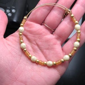 Alex and Ani gold and white bracelet